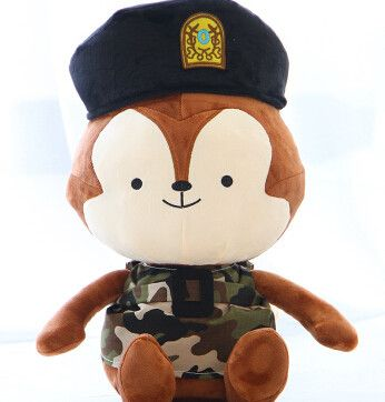Descendants of the Sun Same Paragraph Plush toy doll Wolf King Rabbit camoflauge