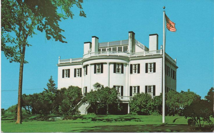 Unused Postcard of Montpelier, General Henry Knox Mansion, Thomaston, Maine, c1970s, good shape by VintageNEJunk on Etsy