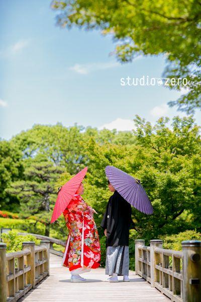 What a lovely wedding photo in Japan! 大阪・大仙公園ロケーション 和装前撮り 色打掛 | 『和装日和』 和装前撮り.com BLOG
