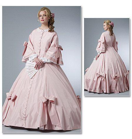 Diy Sewing Pattern- Butterick 5543- Civil War Dress-Hoop Dress-Costume Dress. $6.00, via Etsy.