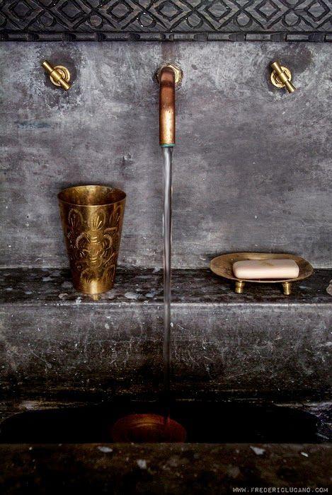 Concrete & brass