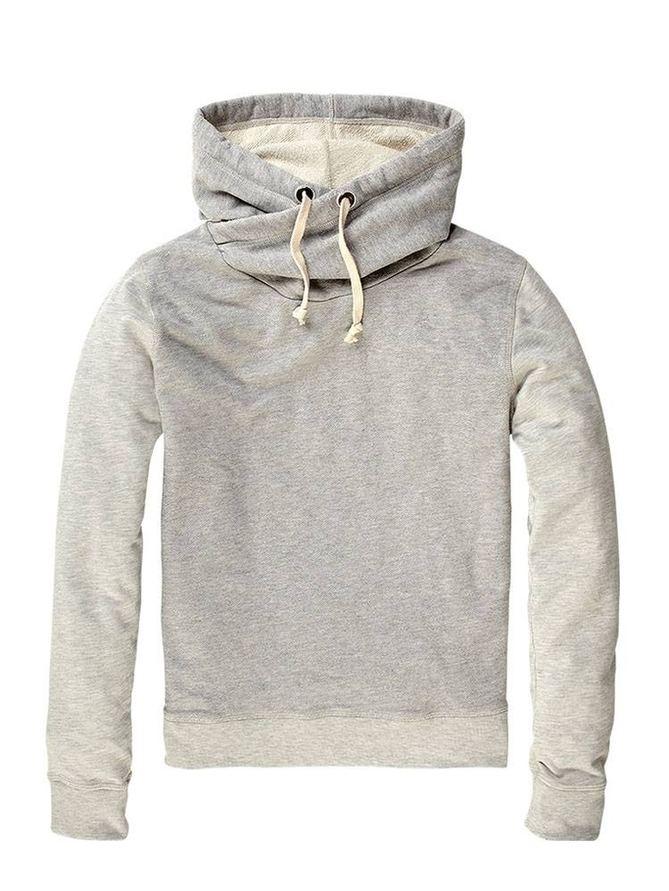 Home Alone - Twisted hooded sweater - grey melange - XL