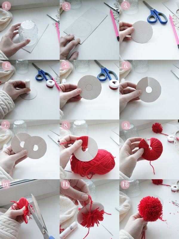 Pearls & Scissors: DIY Pom Pom/Bobble for a hat