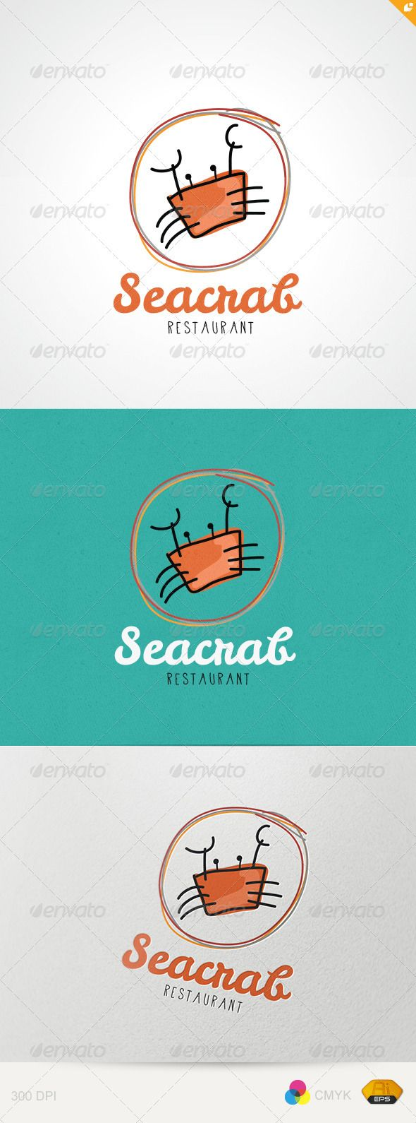 Sea Crab Restaurant  #GraphicRiver          Sea Crab Restaurant – Logo Template  This logo design for dinning,crab food and restaurant or creative business.  Logo Template Features   EPS (Illustrator 10 EPS ) 300PPI  CMYK   100% Scalable Vector Files  Easy to edit color / text  Ready to print  Free font used  Leckerli One     APD      If you buy and like this logo, please remember to rate it. Thanks!