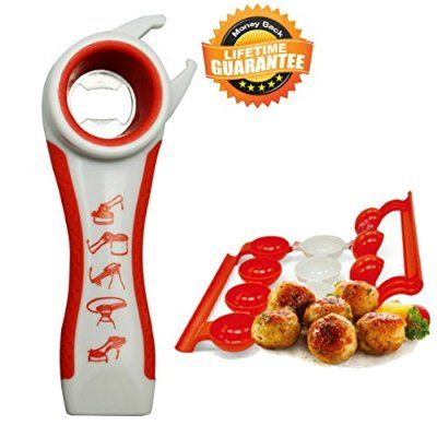 Bottle Opener Jar Opener Rheumatoid Arthritis Products Aids For Hands Seniors Twister Grip Lid Seal Remover Lid Twist Off With Meatballer Maker Stuffer Free Bonus Kitchen Gadgets And Tools Set