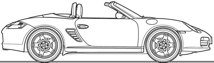 Porsche Boxster 987 outline