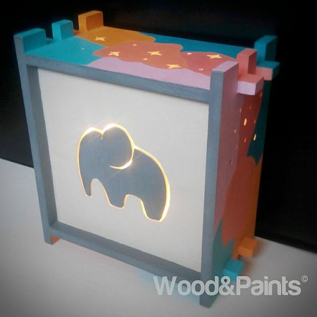 Night lamp. Elephant. #woodandpaints  #diy #woodworking #handmade