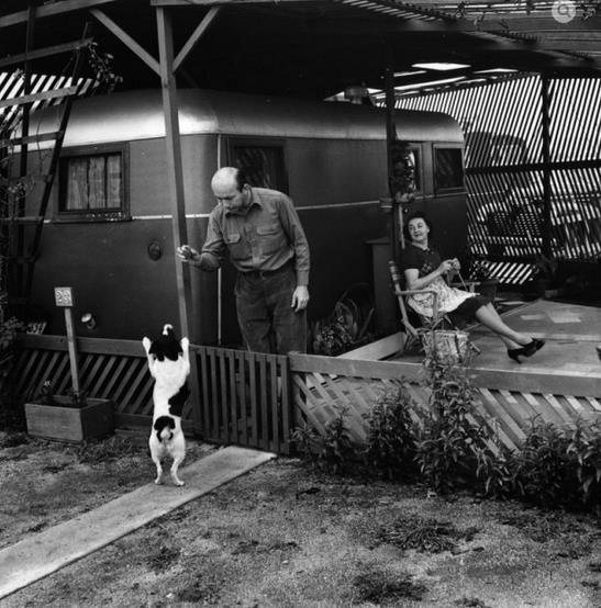 Ansel Adams 1939 Trailer Park Photos