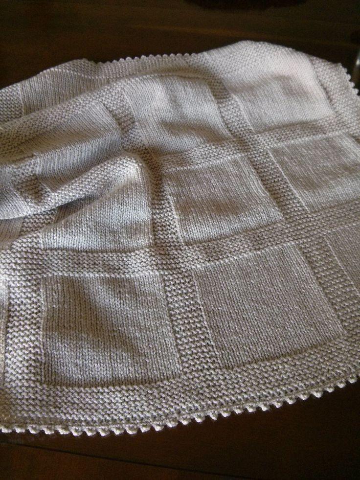 M s de 20 ideas incre bles sobre mantas para beb s en - Mantas de punto hechas a mano ...