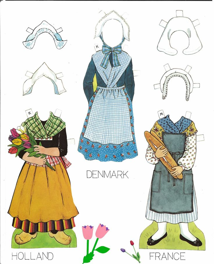 Traditional Folk Costumes of Europe Paper Dolls by Kathy Allert, Dover Publications Inc. 1984 (6 of 11)   This set features two girls, Kristen and Margaret and traditional costumes from various countries. This was a ...
