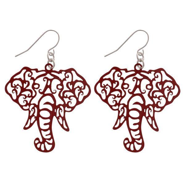 Alabama Elephant Head Earrings – Prince Wimbley Productions