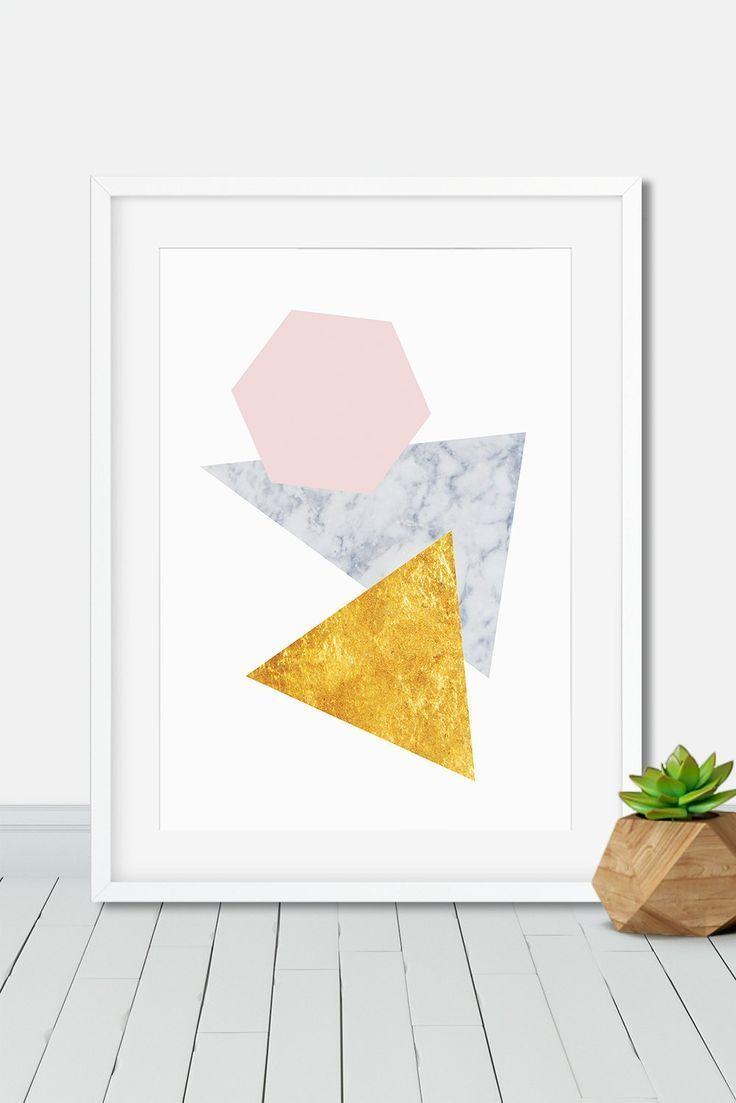 Une Jolie Affiche Or Et Marbre Pour Une Maison Scandinave Affichescandinave Posterscandinave Illustrationscandi Minimalist Prints Marble Art Modern Prints