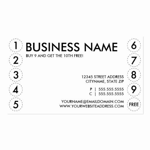 Punch Card Template Microsoft Word Fresh Plain Punch Card Punch Cards Card Template Personalized Greeting Cards