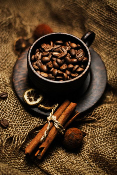 Hot spicy coffee                        ,: Cinnamon, Color, Coffee Beans, Coff Time, Coffee Love, Cups Of Coff, Cafe, Coff Beans, Coff Cups