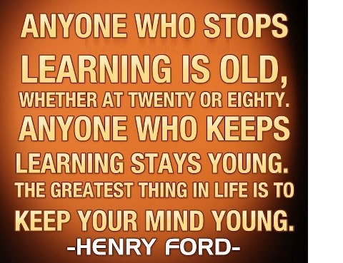 Don't stop learning..