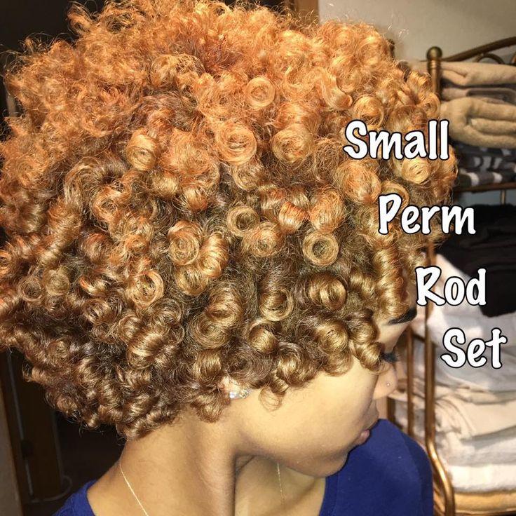 Small Perm Rod Set on Short/Medium Natural Hair