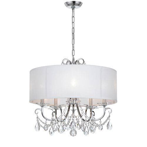 Othello 24-Inch Polished Chrome Five-Light Chandelier