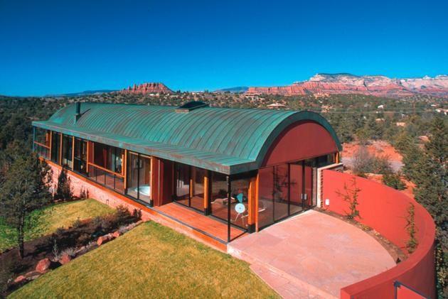 Desert House With Copper Clad Barrel Roof   Decor Advisor