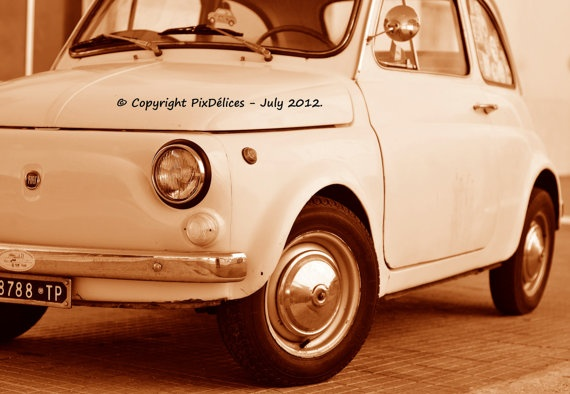 Vintage Fiat 500 by PixDelices on Etsy, €25.00