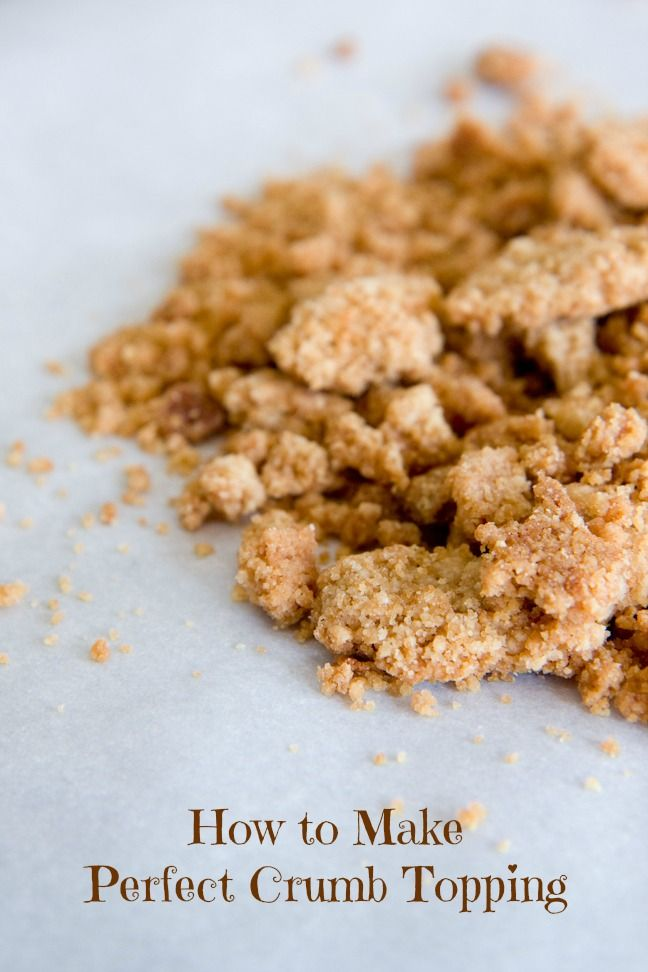 How to Make Perfect Crumb Topping - from Cupcake Project
