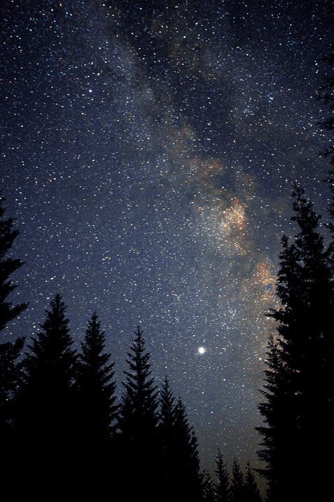 Looking up at starry night sky always puts me at ease.