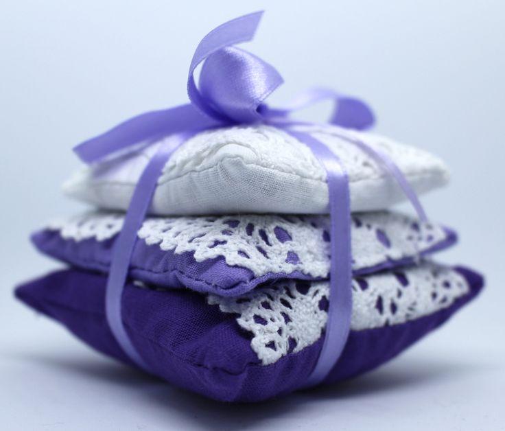 Vintage style Lavender bundle with crochet lace