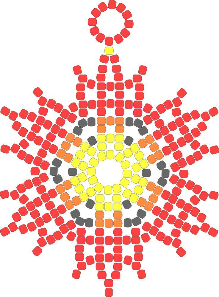 Flor de 18 puntas tejida a mano alzada – Artesanías Che