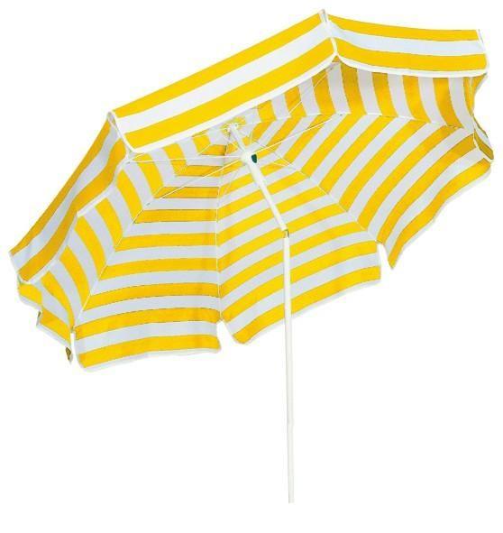 Schneider Sonnenschirm Capri, rund 200/8 Gelb/Weiß