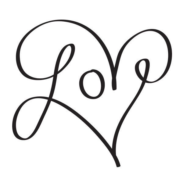 Love Heart H e n n a  T a t s Art, Love in cursive, Tattoo designs
