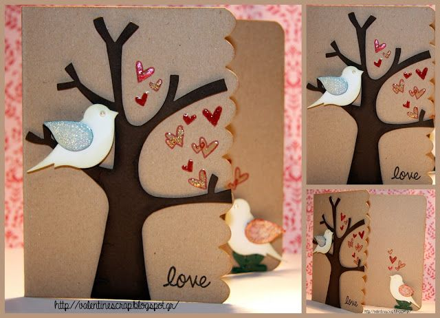 Valentine's Craft: Love is in the air #Card 1