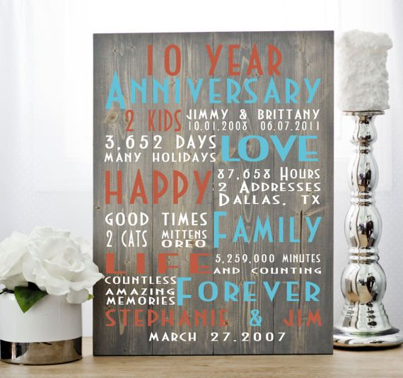 25 Unique 10th Anniversary Gifts Ideas On Pinterest