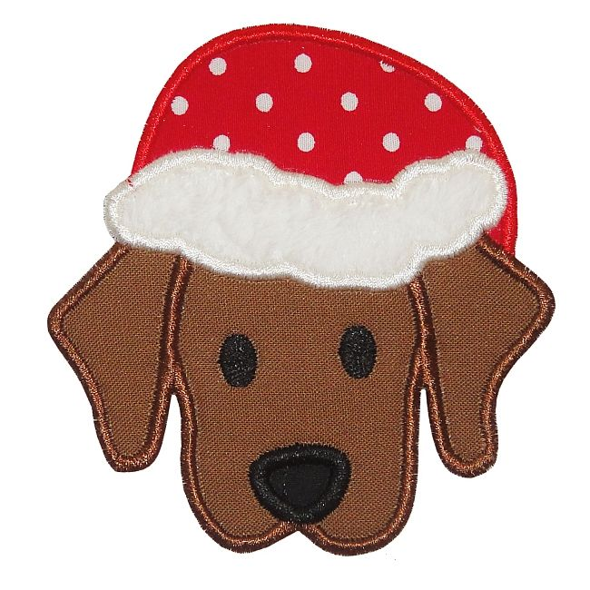 Santa Puppy Applique cute and easy to do in felt!