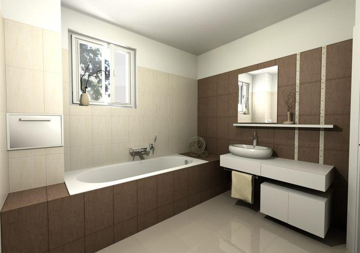 Bathroom in Domus3D Antares, tiles MUSIS Bambu