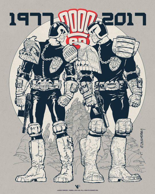 Judge Dredd: 1977 x 2017 - Festival Exclusive | Carlos Ezquerra