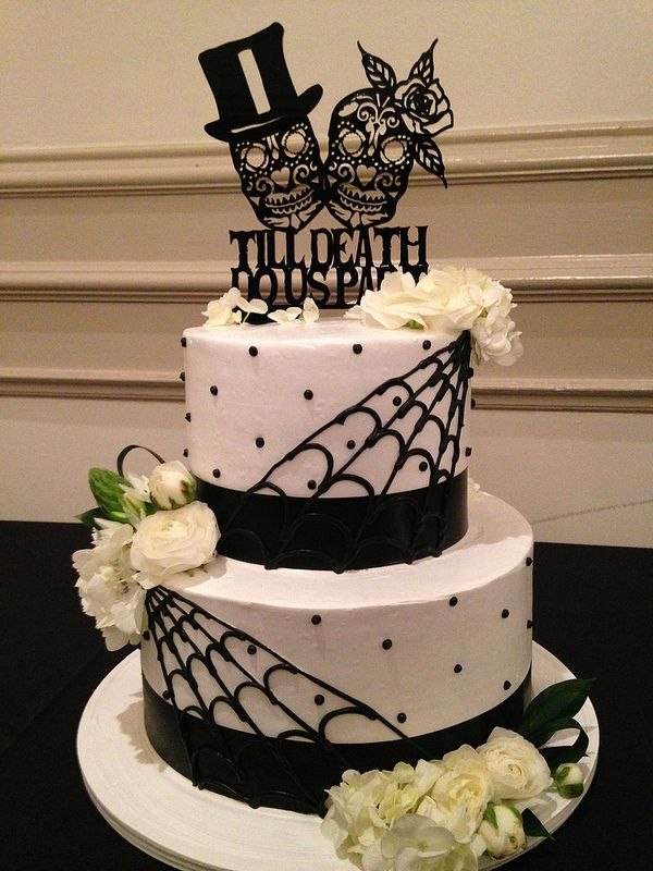 Day Of The Dead Wedding Cake Wedding Cakes Pinterest