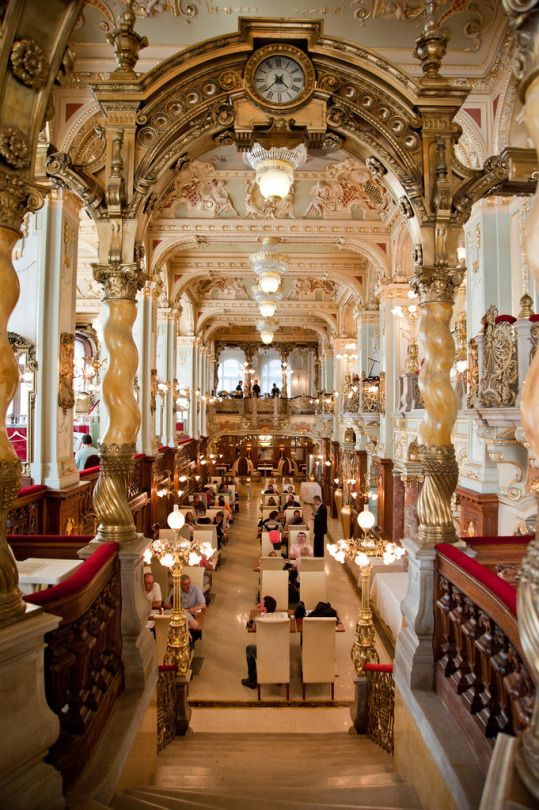 The New York Cafe in Budapest, Hungary by Greg Shingler