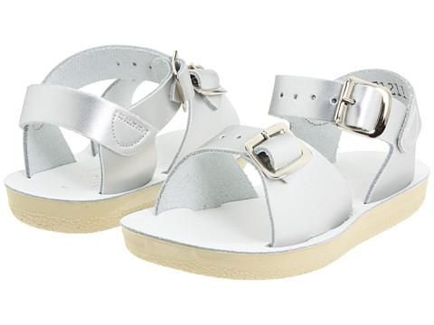 Sun San Surfer Saltwater Sandals Silver