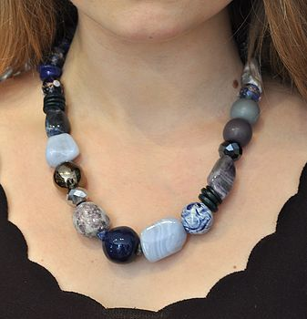 Blue/Purple Semi Precious Stone Necklace