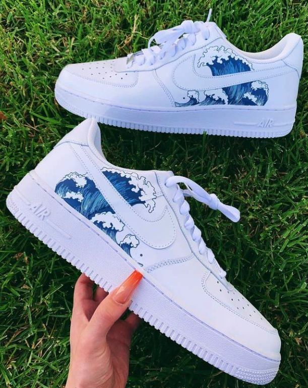 Teal Bandana Air Force 1 in 2020 | Adidas, Aesthetic shoes