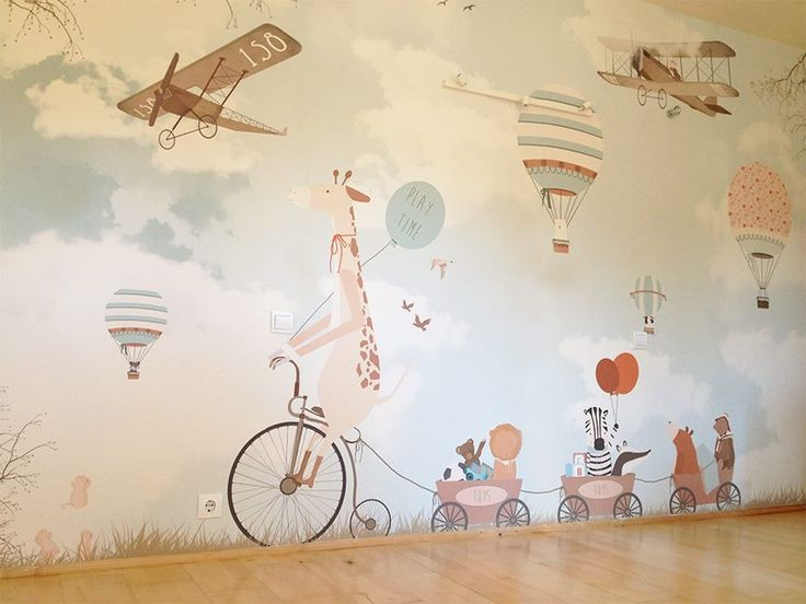 Best 25 baby wallpaper ideas on pinterest baby room for Baby mural wallpaper