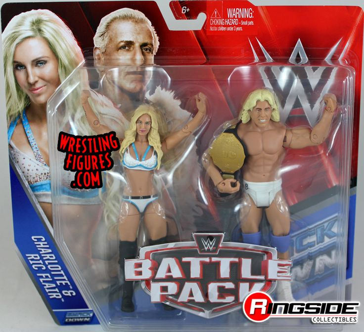 Charlotte & Ric Flair - WWE Battle Packs 41 WWE Toy Wrestling Action Figures