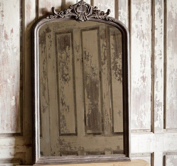 Instead of leaner mirror?  Mounted on wall opposite frame wall?  Wood Framed Mirror | Large Framed Mirror