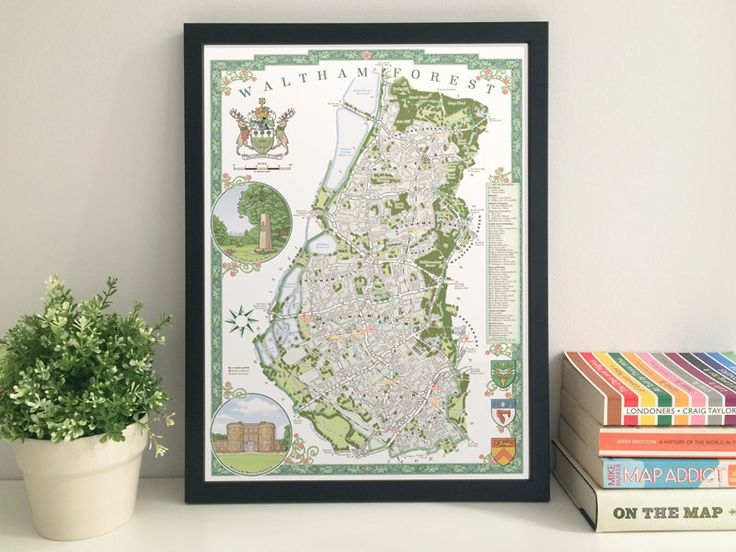 Waltham Forest Borough illustrated map giclee by thisismikehall