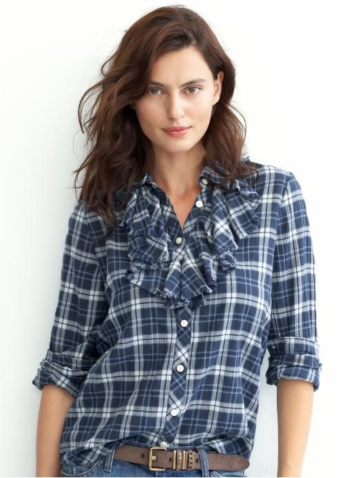 Create / Enjoy: DIY ruffled plaid shirt makeover