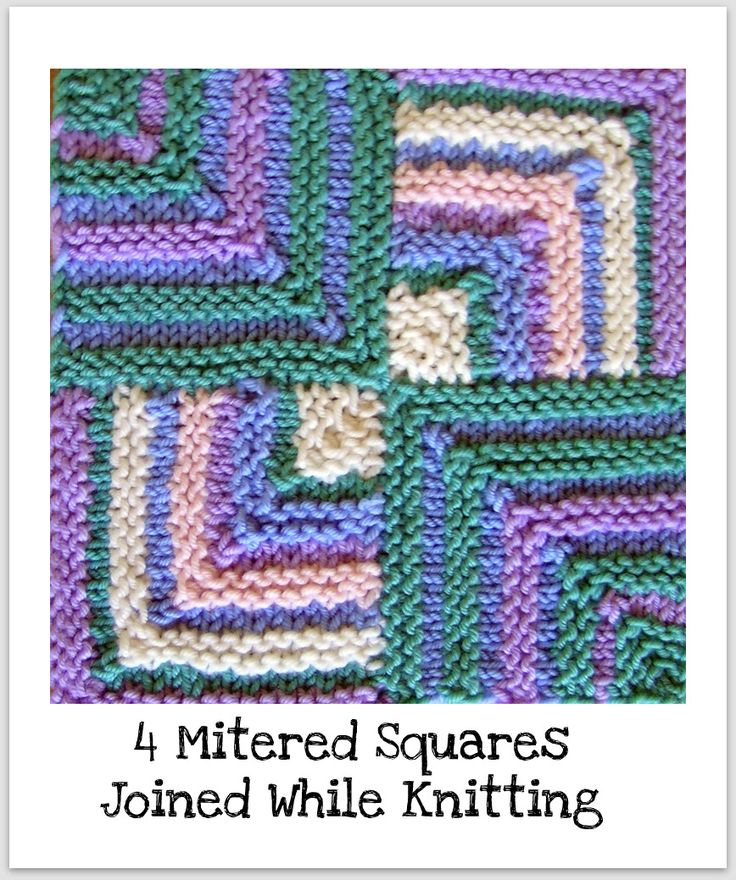 Knitting Patterns Squares : Joined Mitered Squares Knitting Pinterest