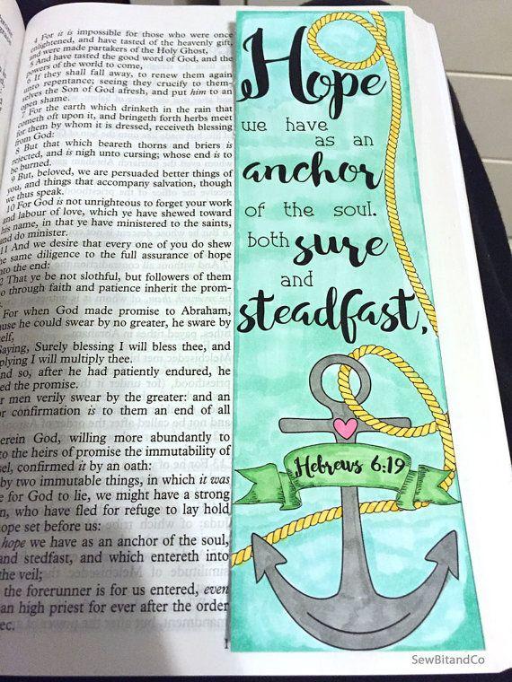 Hebrews 6:19 Bible Journaling Bible Verse Art Bible Verse Print by SewBitandCo