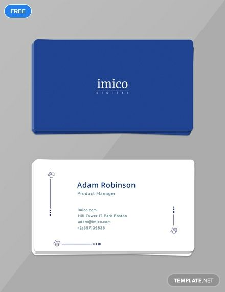 a simple but effective business card you can download for free this printable template is
