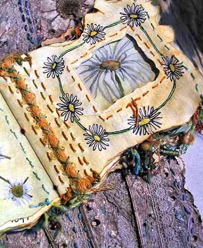 Frances Pickering stitched journal