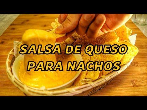 Salsa de queso cheddar casera para nachos - YouTube