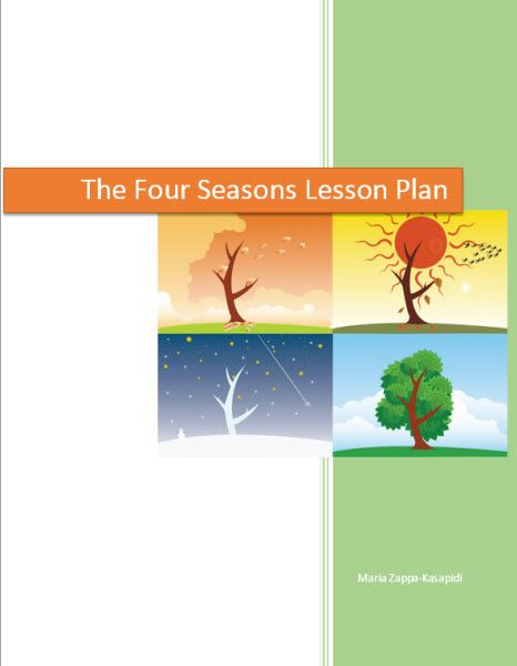 That 8 pages lesson plan file is the main file of my Four Seasons Unit. The zip file also includes a help file about weather conditions and a PowerPoint presentation with four seasons paintings.   The unit contains everything you need in order to help you enrich your Four seasons' curriculum and may be used for the whole year. http://www.teacherspayteachers.com/Product/The-Four-Seasons-Lesson-plan-free-1217310